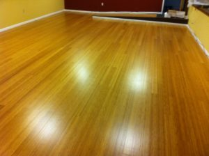 bamboo floors after refinish
